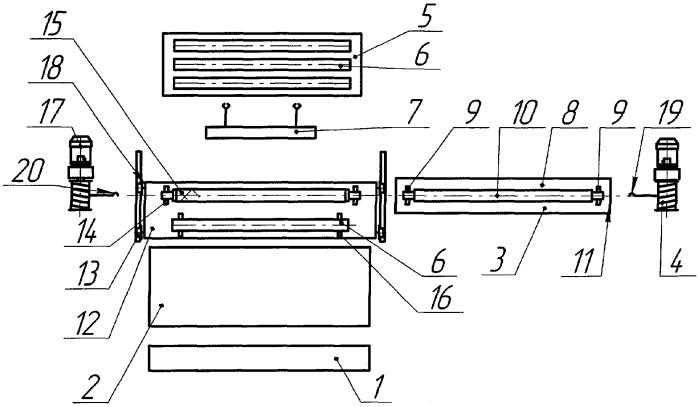 Упаковка для изготовления стеклопластиковых труб