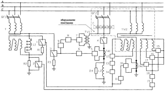 Устройство защиты электрооборудования подстанции и линий электропередачи высокого напряжения