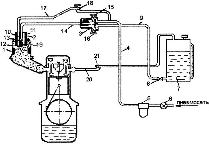 Устройство для подачи приработочной присадки в камеру сгорания двигателя внутреннего сгорания
