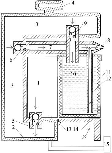 Устройство, преобразующее раствор в частицы аэродинамической системы закрытого помещения