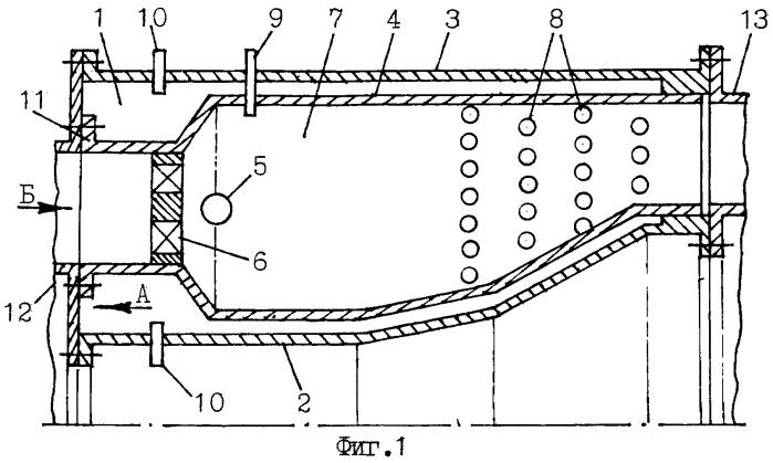 Трубчато-кольцевая камера сгорания газотурбинного двигателя