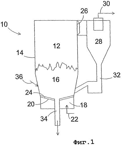 Решетчатая конструкция для реактора с псевдоожиженным слоем и способ удаления крупного материала из реактора с псевдоожиженным слоем