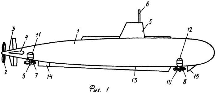 Устройство для удержания подводной лодки на заданной глубине