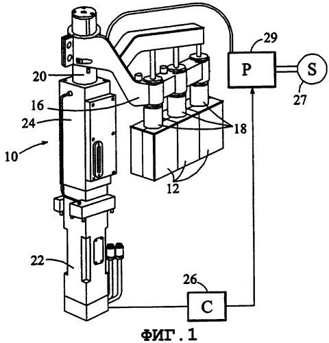 Передающий узел секционной стеклоформовочной машины