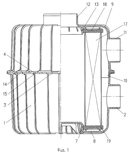 Воздушный фильтр двигателя внутреннего сгорания