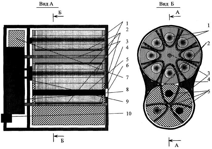 Портативный многоцветный импульсно-периодический лазерный излучатель с пиротехнической накачкой