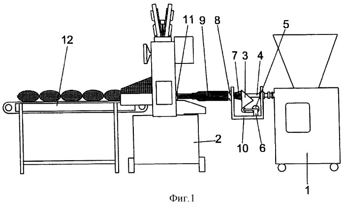 Способ и устройство для автоматического начинения мясных продуктов в двойную пленочно-сеточную оболочку
