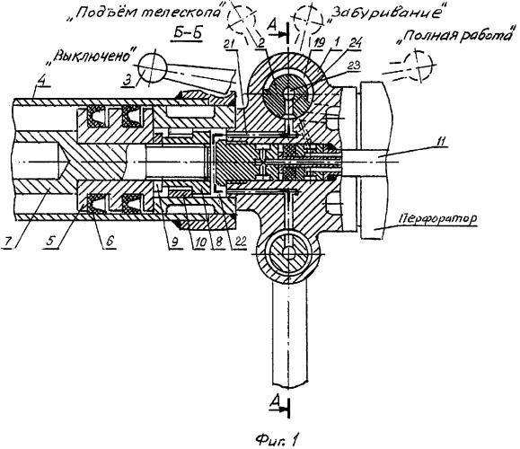 Пусковое устройство пневматического телескопного перфоратора