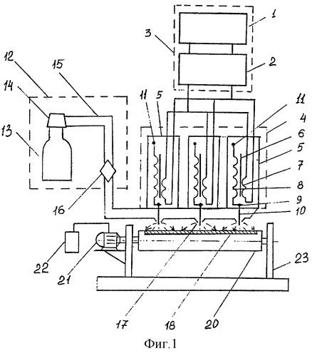 Устройство для электрогазоразрядной обработки поверхностей материалов