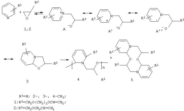Сопряженные сополимеры пиридинов с виниловыми эпоксидными соединениями и способ их получения