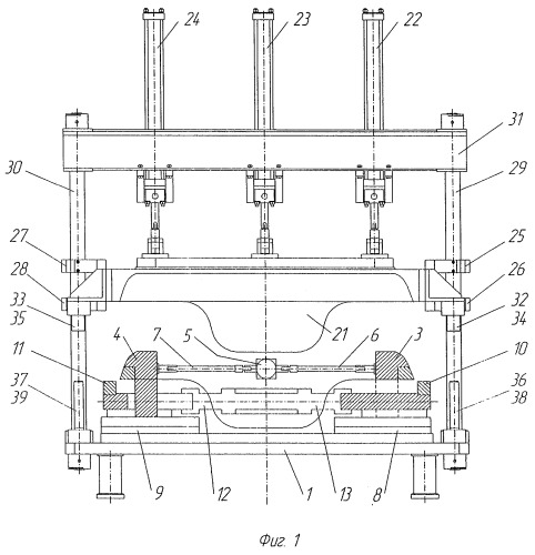 Устройство для фланцовки сложного контура детали