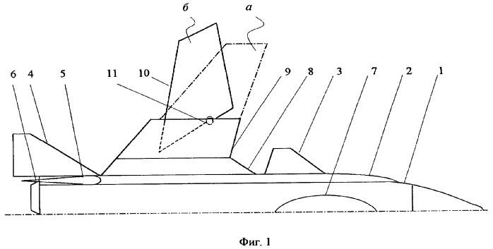 Крыло обратной стреловидности с поворотной частью консолей