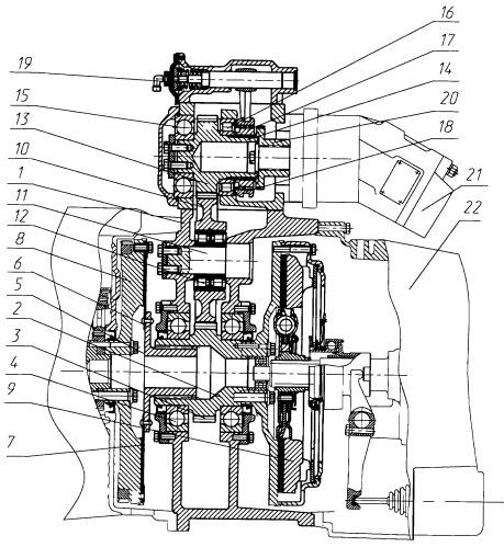 Коробка отбора мощности от двигателя