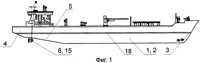 Судно ледового класса, преимущественно, танкер двойного действия, способ плавания судна ледового класса, движительный узел и главная двигательная установка судна ледового класса