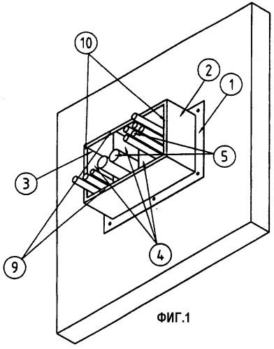 Противопожарный барьер для отверстий в стенах, содержащий различные рамки для входов кабелей