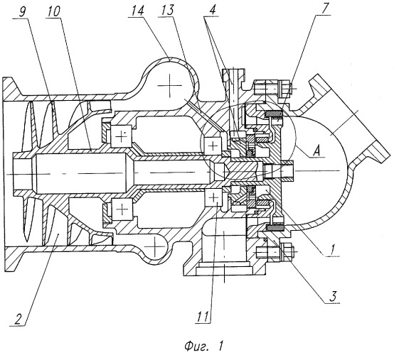Устройство разделения насоса и турбины бустерного турбонасосного агрегата жидкостного ракетного двигателя