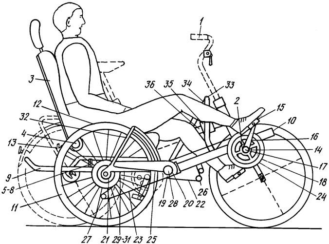Складная велоколяска