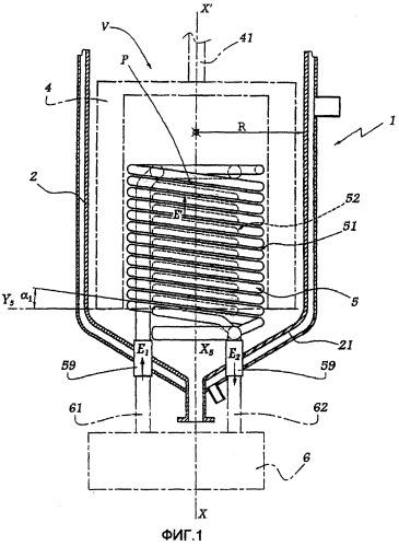 Реактор, содержащий контур для циркуляции теплоносителя, способ изготовления и применения такого реактора