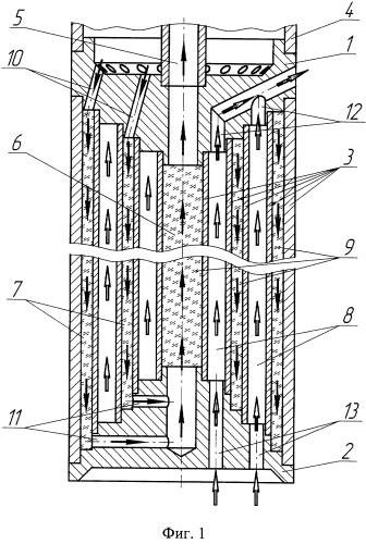 Теплообменник для погружного маслозаполненного электродвигателя