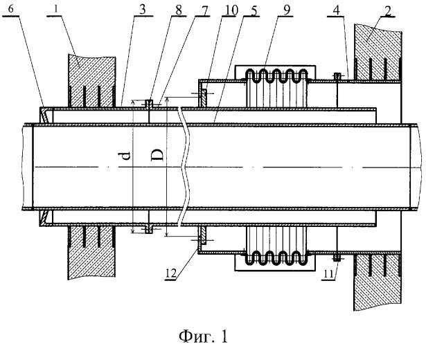 Герметичная проходка трубопровода через защитные оболочки