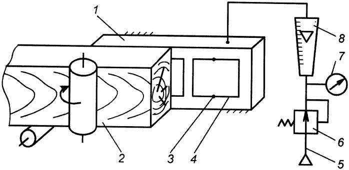 Устройство для определения шероховатости пиломатериалов