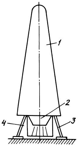 Одноступенчатая многоразовая ракета-носитель вертикального взлета и посадки