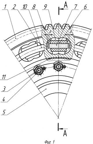 Упругое зубчатое колесо