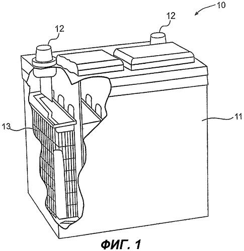 Аккумуляторная батарея, содержащая токоприемники из пеноуглерода