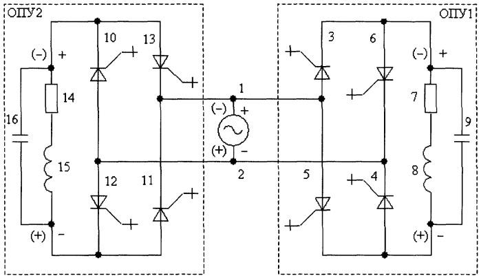 Однофазное преобразовательное устройство переменно-переменного тока для индукционного нагрева
