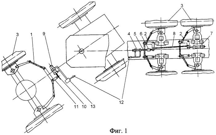 Система рулевого управления большегрузного седельного автопоезда