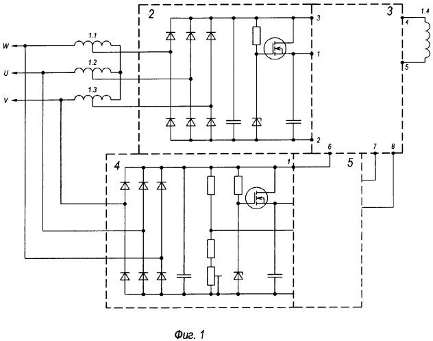 синхронного генератора с