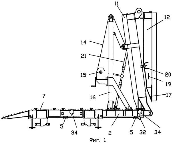 Устройство для погрузки самоходной техники на железнодорожную платформу