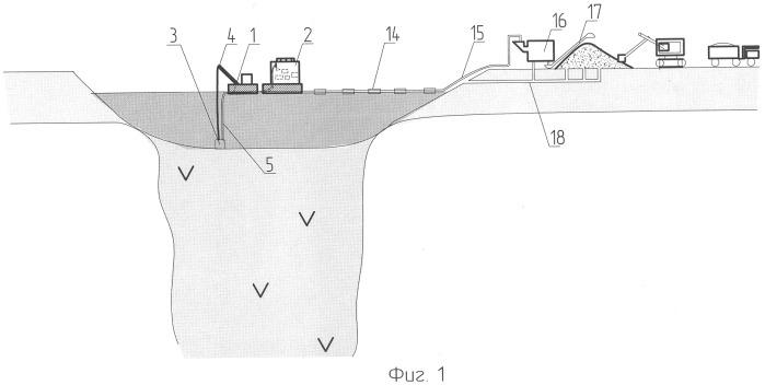 Способ разработки алмазоносных кимберлитовых трубок и плавучая установка для его осуществления