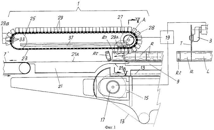 Устройство и способ удаления концевых обрезков из серий изделий, таких как рулоны или подобные им изделия