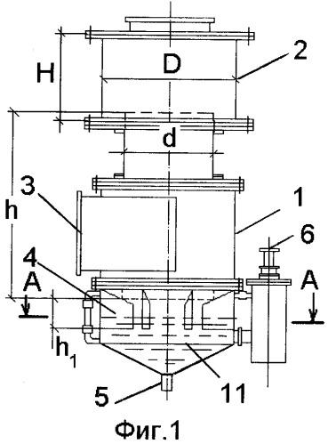 Инжекционно-пенный аппарат для обработки газа