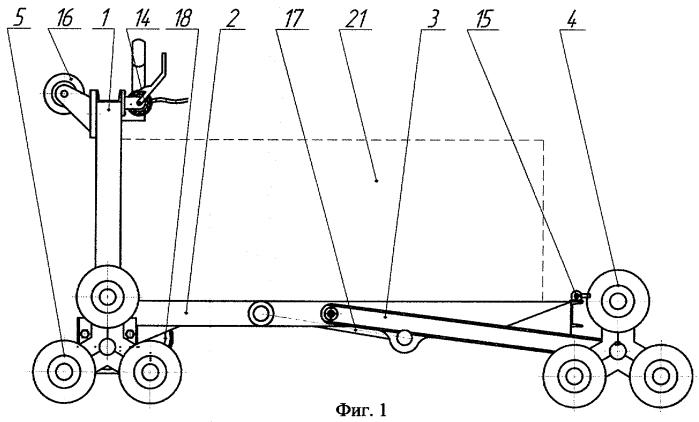 Устройство для транспортировки грузов по лестничным пролетам