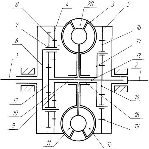 Бесступенчатый замкнутый планетарный гидромеханический вариатор