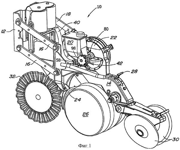 Передаточный механизм для сельскохозяйственной машины, сеялка и семенной ящик с передаточным механизмом