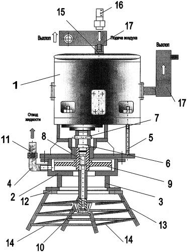 Свободновихревой пневмонасосный агрегат