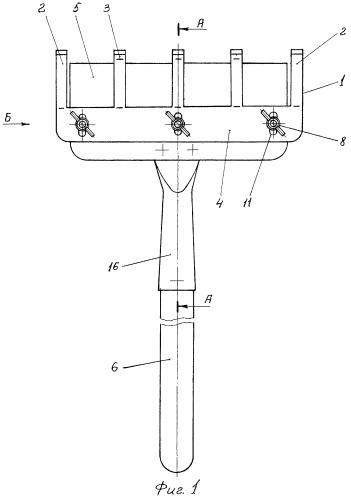 Комбинированное ручное орудие для удаления сорной растительности