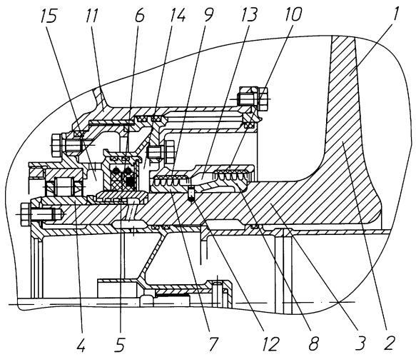 Передняя опора вентилятора газотурбинного двигателя