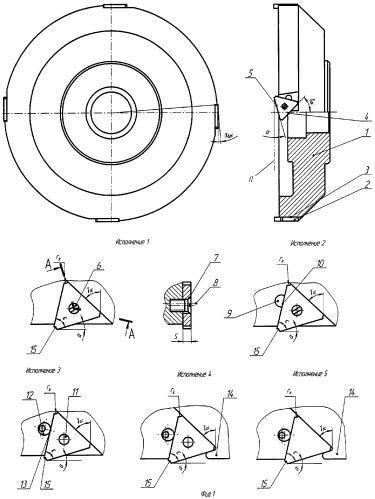 Торцовая режущая, режуще-деформирующая и деформирующая фреза, рабочие пластины к ней и способ их изготовления, способ обработки деформирующей фрезой