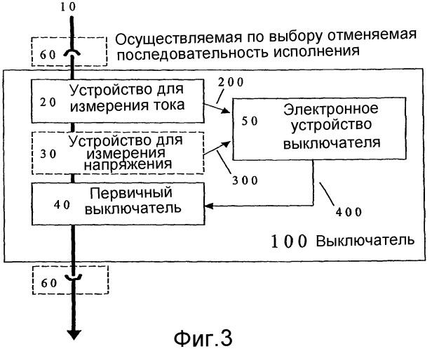 Выключатель со встроенным датчиком тока и/или напряжения