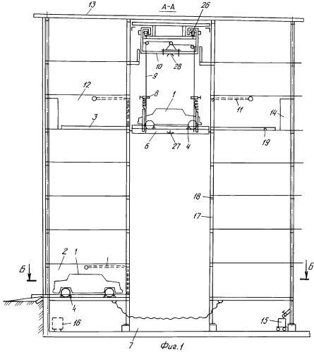 Автоматический многоэтажный гараж-пенал