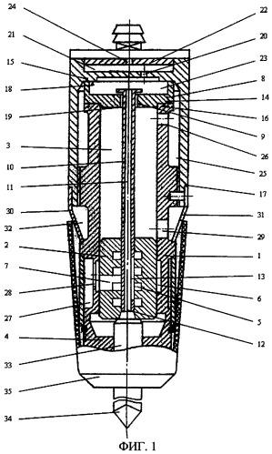 Пневматическое устройство ударного действия с дроссельным воздухораспределением