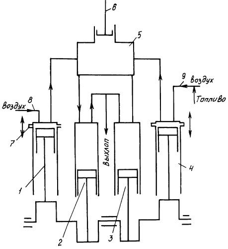 Способ работы четырехтактного двигателя внутреннего сгорания и устройство для реализации этого способа