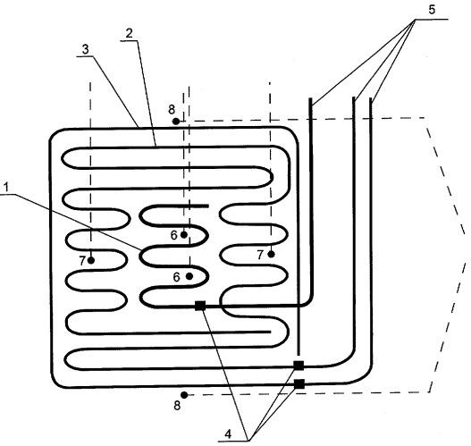 Система мультизональной трехконтурной дифференцированной терморегуляции напольных электрообогреваемых панелей для молодняка животных