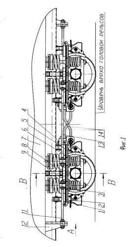 Двухосная тележка подвижной единицы железнодорожного транспорта