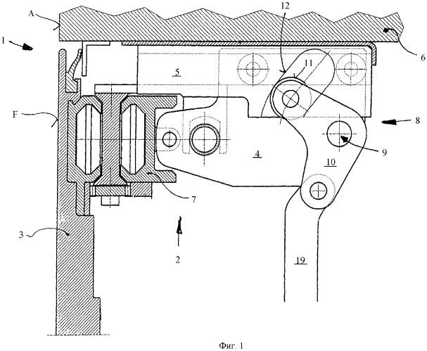 Поворотно-сдвижная дверь для транспортных средств
