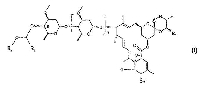 """Производные авермектина в1 и моносахарида авермектина в1, имеющие алкоксиметильный заместитель в положении 4""""- или 4'-"""